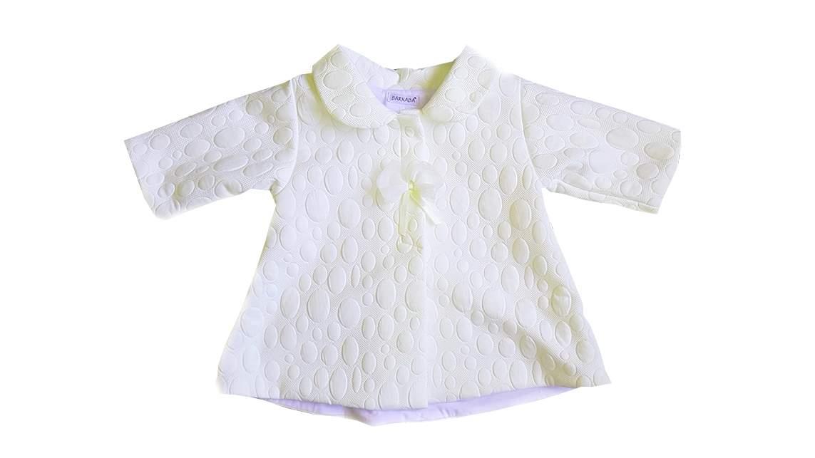 adf9457ffa0 Elegantní jarní kabátek s 3D vzorem - bílý