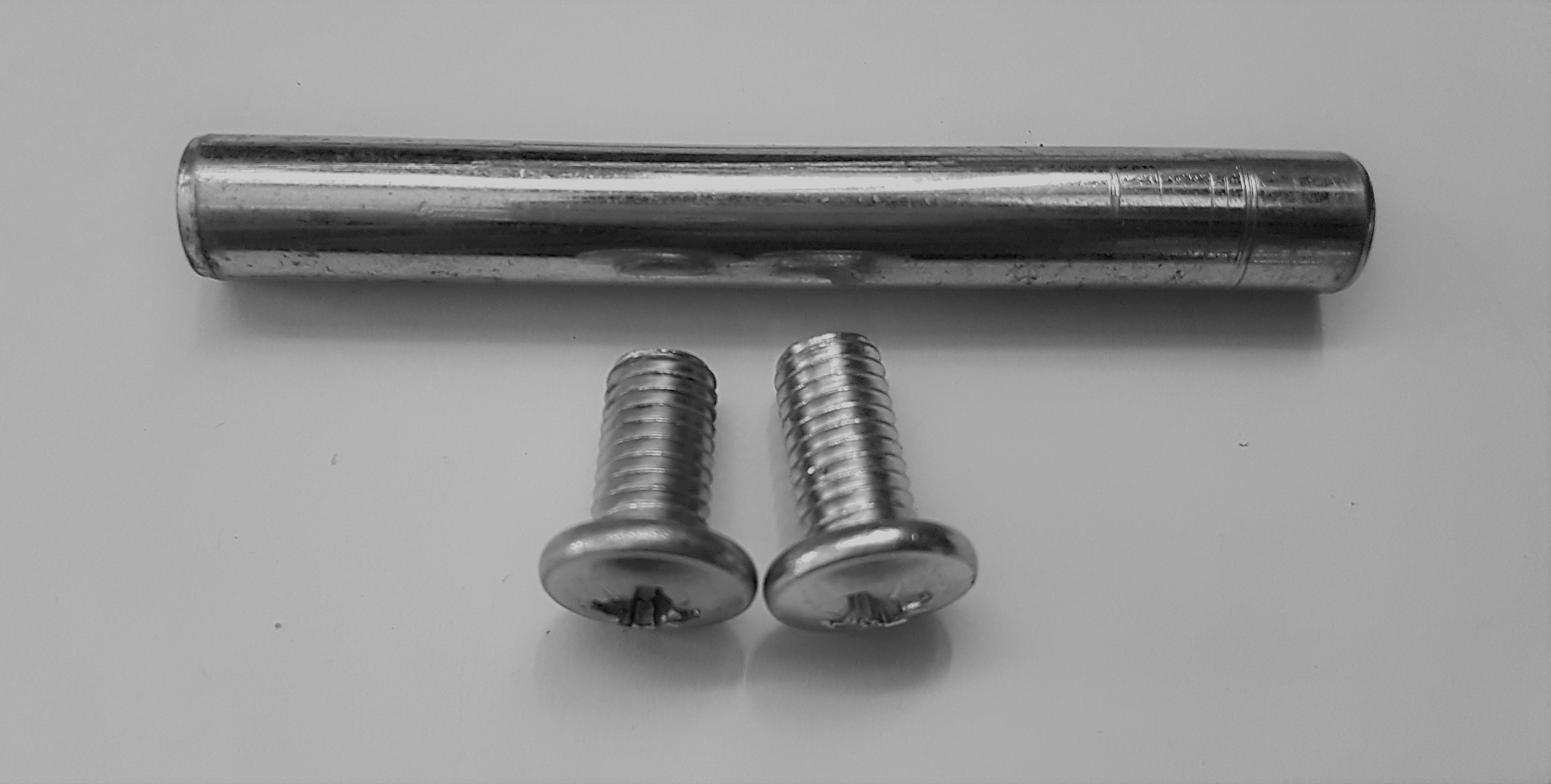 ND_středový čep do předního závěsu kola včetně šroubů M6 a protipovolovací podložky