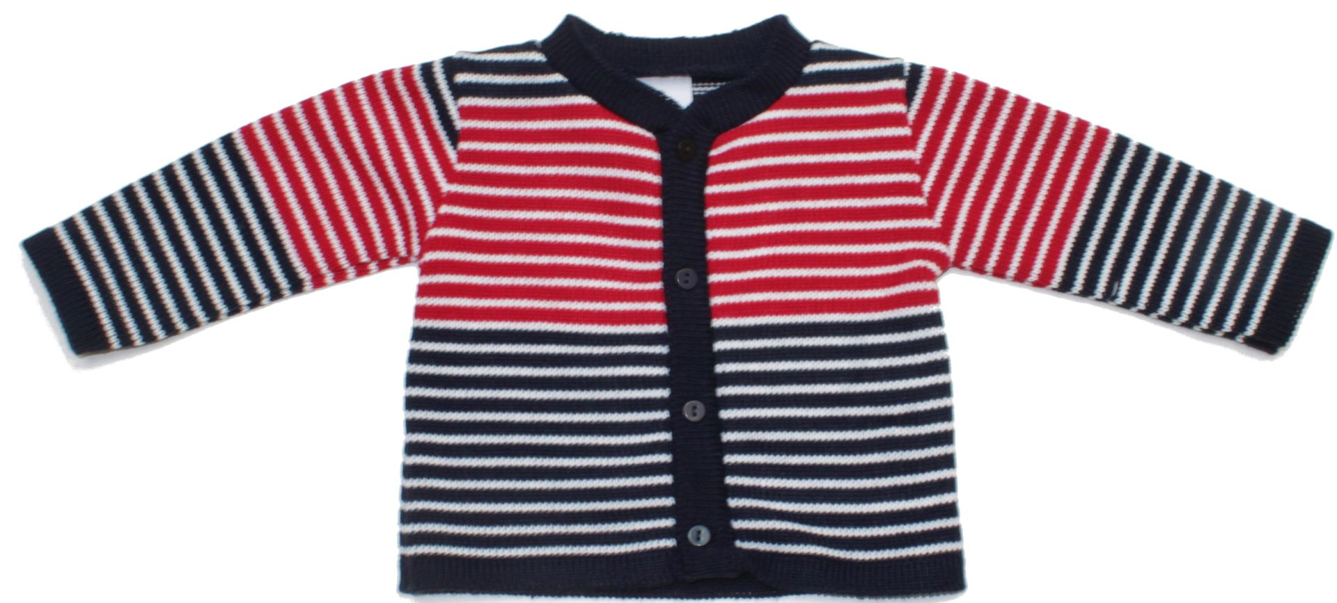 7804f75aacd1 Dívčí svetřík s proužky celopropínací Losan Dívčí svetřík s proužky  celopropínací Losan