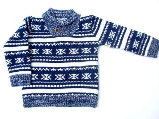 2f96248153e5 Chlapecký svetr s norským vzorem zn.Dirkje tm.modrý 2
