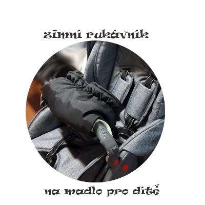 HIT !!! Zimní rukávník Paradise Baby na kočárek pro dítě tmavě šedý