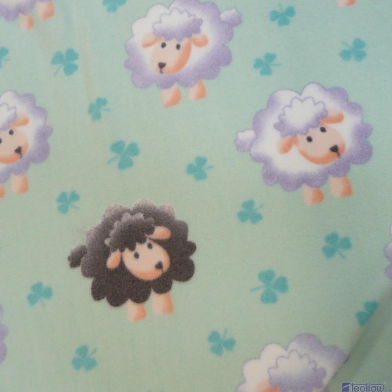 Dětská fleecová deka 90x90cm ovečky tyrkysová