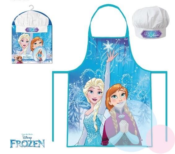 Dětský kuchařský set - Kuchařská zástěra + čepice Frozen