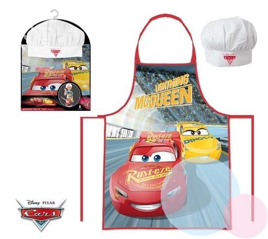 Dětský kuchařský set - Kuchařská zástěra + čepice Cars