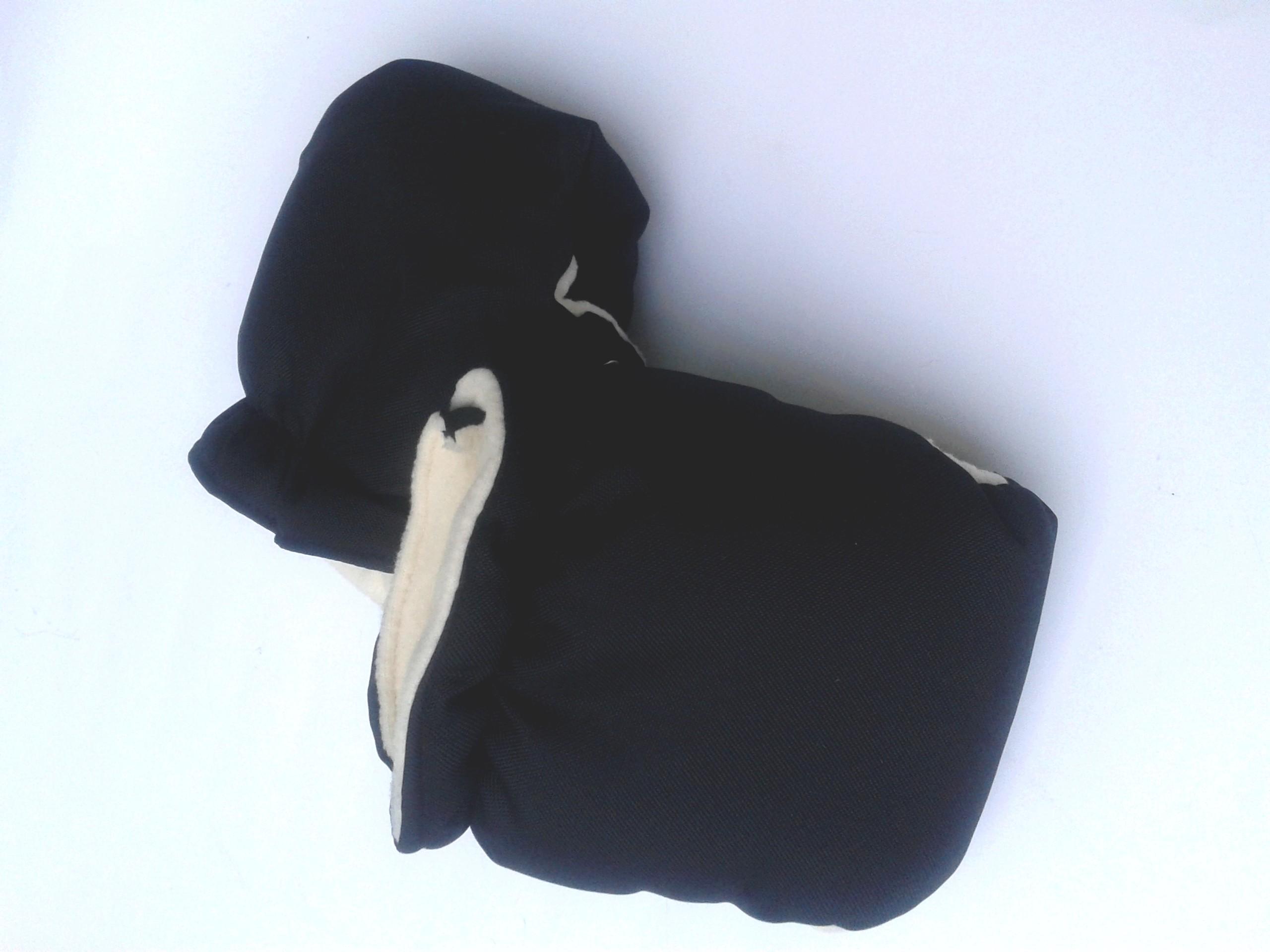 Zimní rukavice ke kočárku černé