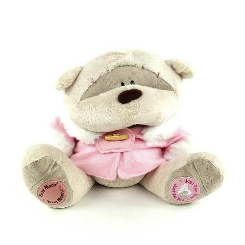 Medvídek Fizzy Moon v růžovém kabátku