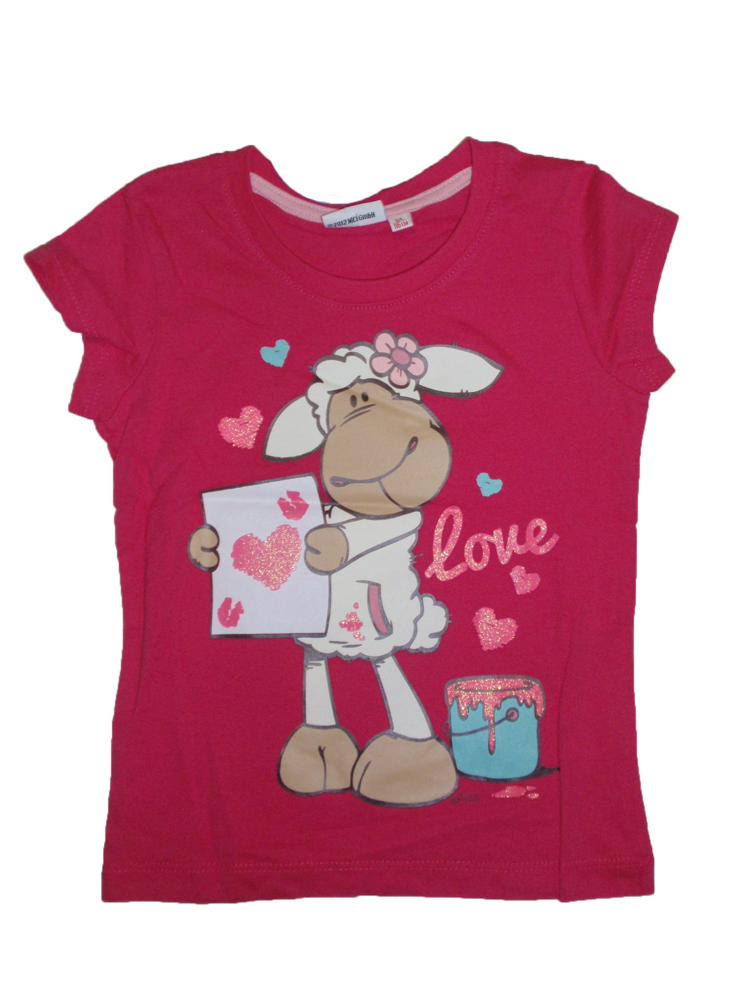 Dívčí tričko růžové s Ovečkou vel.116