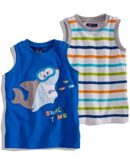Chlapecké triko bez rukávu Minoti 2ks/balení