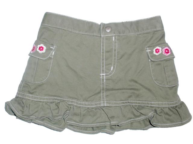 Khaki riflová sukně vel. 1-2 roky