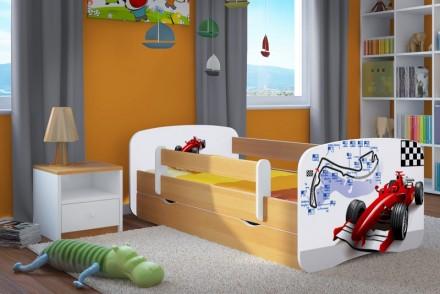 Dětská postel se zábranou - Formule 1