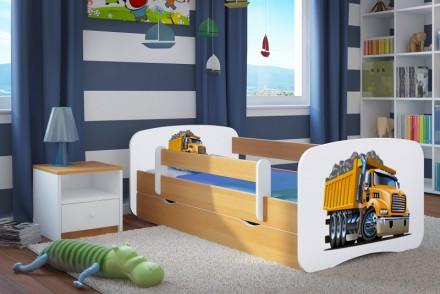 Dětská postel se zábranou - Náklaďák