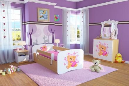 Dětská postel se zábranou - Medvídek