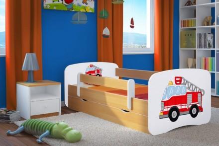 Dětská postel se zábranou - Hasiči