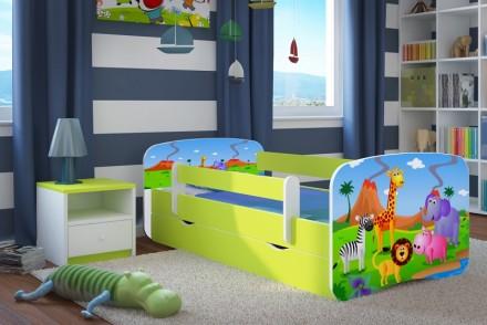 Dětská postel se zábranou - Safari
