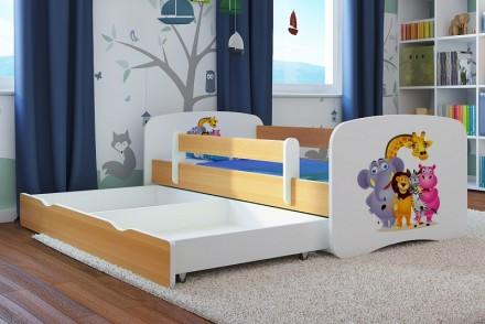 Dětská postel se zábranou - ZOO