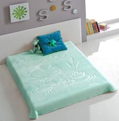 Jednobarevná deka španělka s vytlačeným obrázkem 80x110cm - více barev