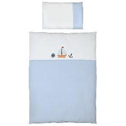 Ceba 2-dílné povlečení do postýlky- námořník modrá - s výšivkou