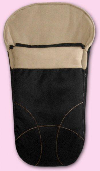 Zimní fusak Fleece (český výrobce) - černá a béžová