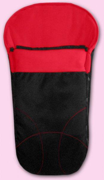 Zimní fusak Fleece (český výrobce) - černá a červaná