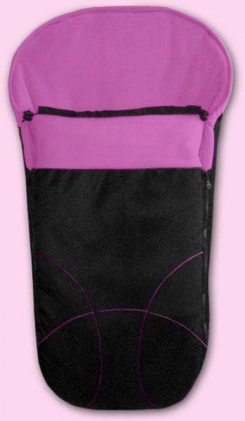 Zimní fusak Fleece (český výrobce) - černá a fialová