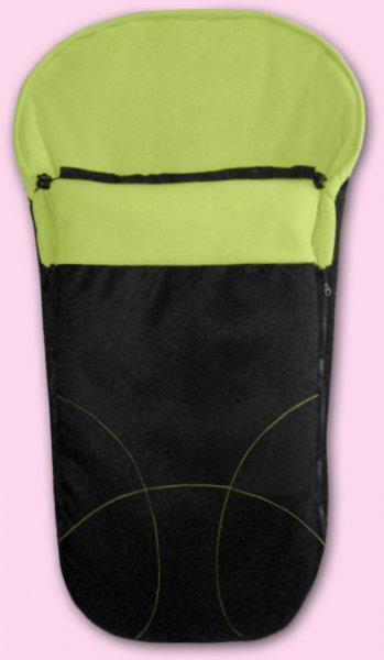 Zimní fusak Fleece (český výrobce) - černá a limetka