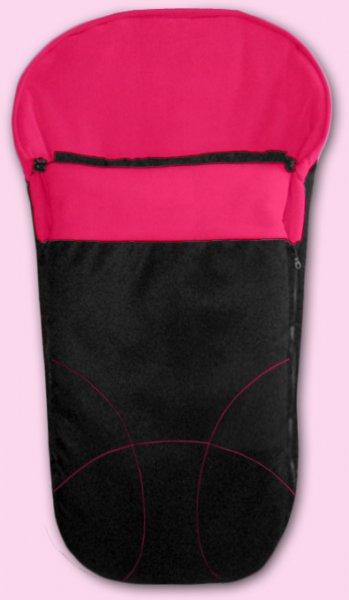 Zimní fusak Fleece (český výrobce) - černá a malinová