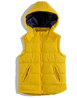 Chlapecká vesta Minoti žlutá