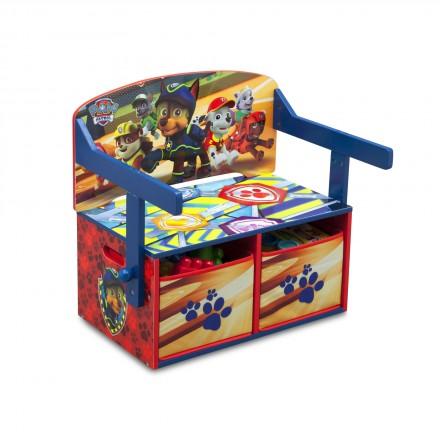 Dětská lavice Tlapkova patrola s úložným prostorem