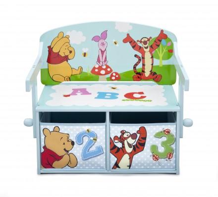 Dětská lavice Medvídek Pú a úložným prostorem
