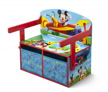 Dětská lavice s úložným prostorem Mickey