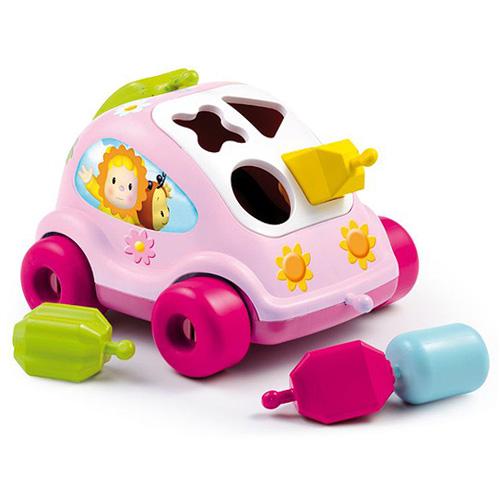 Vkládačka růžové autíčko Smoby