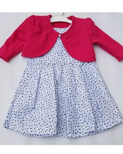 Výprodej !!! Letní komplet šatečky bílé + bolérko růžové