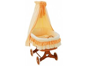 Proutěný košík pro miminko s nebesy Martin - oranžová