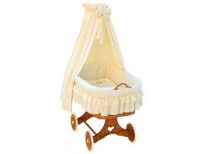 Proutěný košík pro miminko s nebesy Martin - béžová