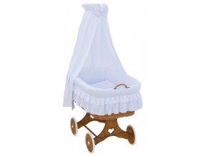 Proutěný košík pro miminko s nebesy Martin - bílá