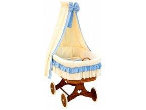 Proutěný košík pro miminko s nebesy Martin - modrá