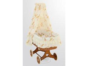 Proutěný košík pro miminko s nebesy Žirafa - žlutá