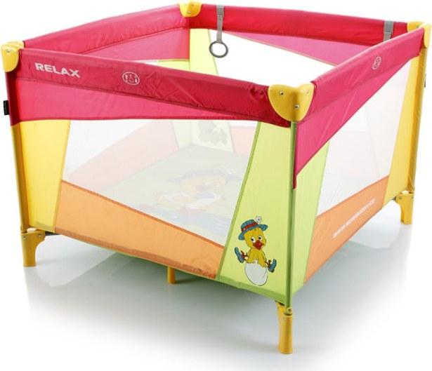 Dětská ohrádka skládací přenosná RELAX - červená