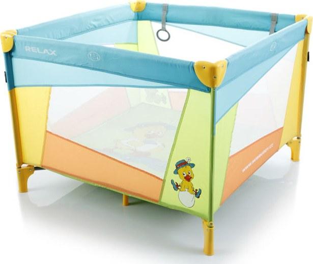 Dětská ohrádka skládací přenosná RELAX - modrá