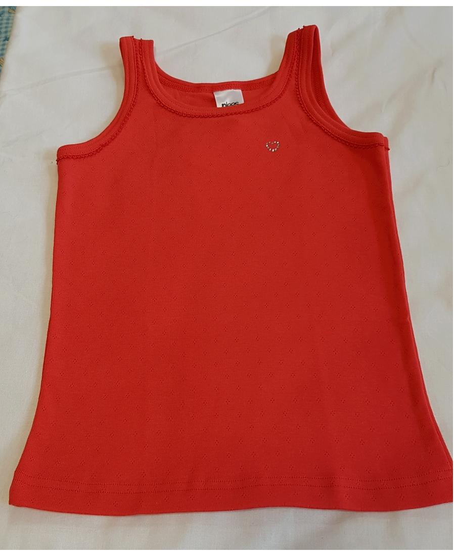 Dětská dívčí košilka červená