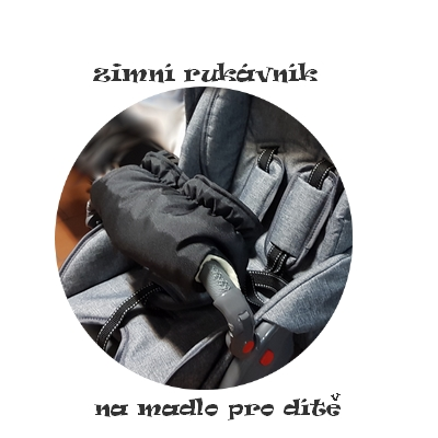 HIT !!! Zimní rukávník Paradise Baby na kočárek pro dítě černý