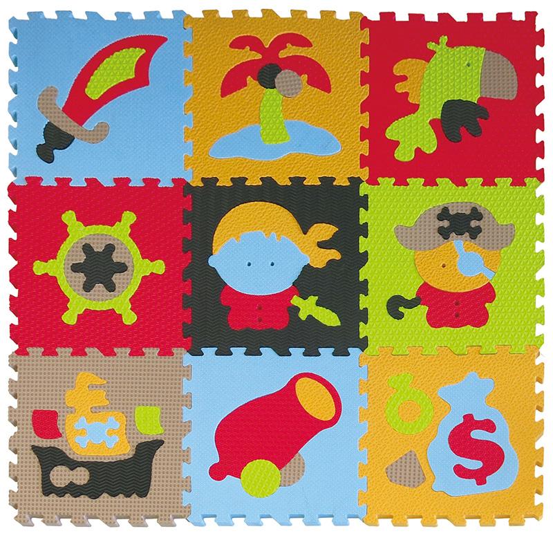 Pěnový koberec puzzle Piráti