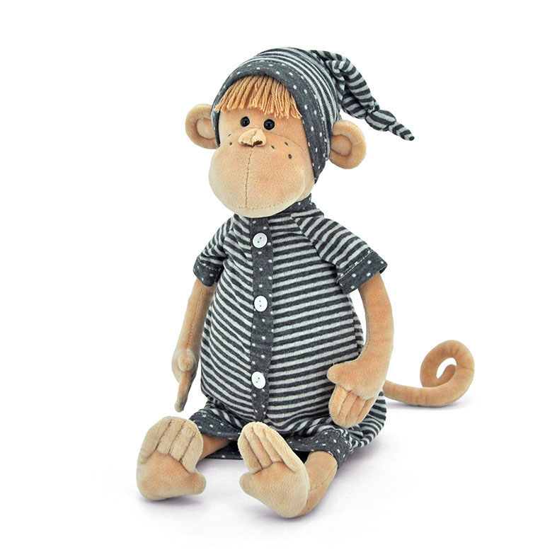 Opička JONAS BABY velká (25 cm - sedící/35 cm) v dárkové krabici