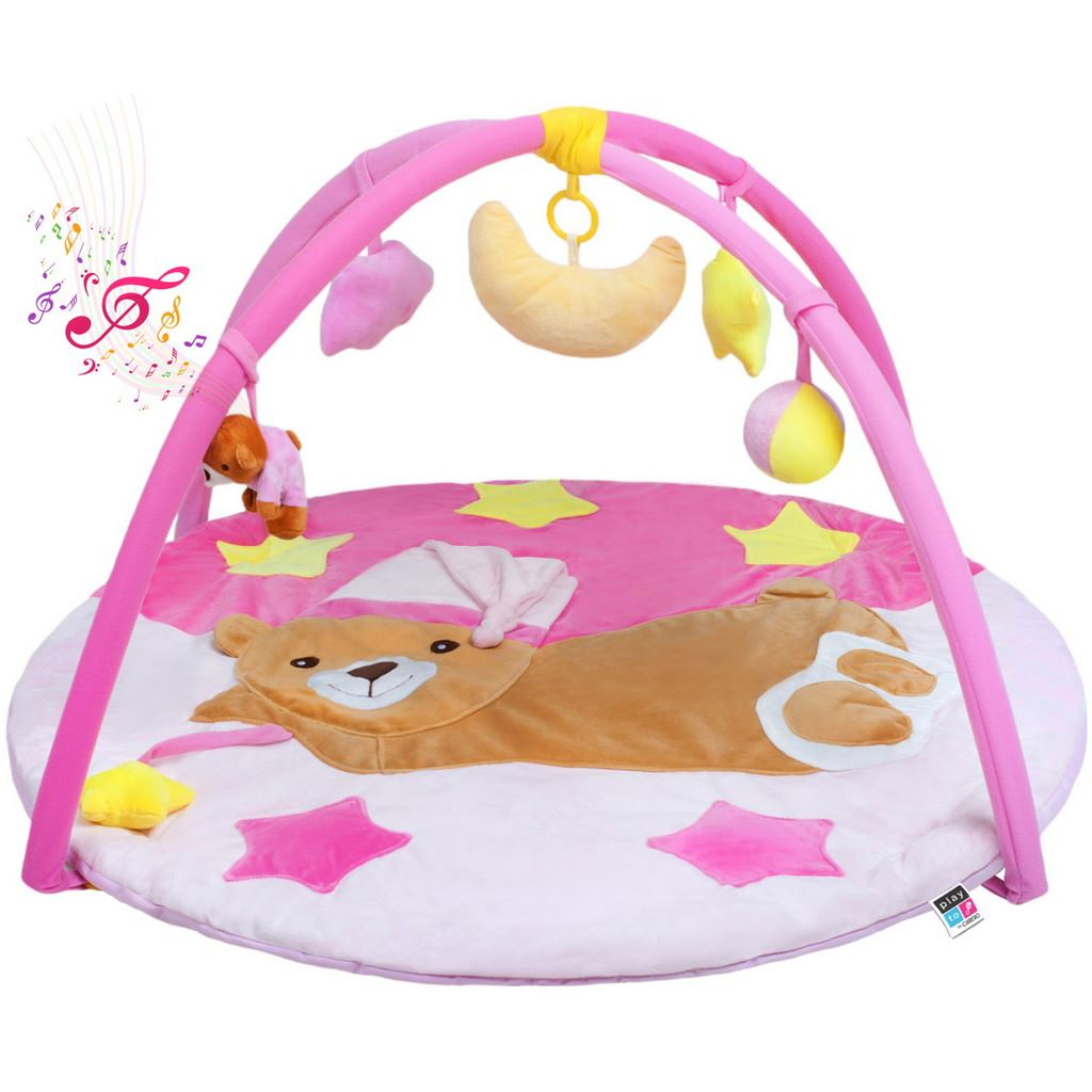 Hrací deka s melodií Medvídek růžový