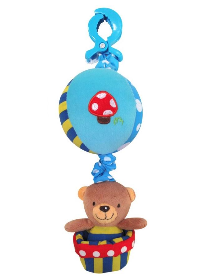 Závěsná hračka na kočárek s melodií Medvídek v košíku