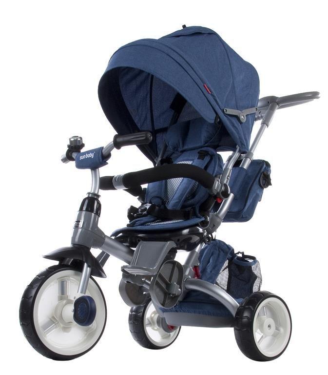 Moderní tříkolka Sun Baby Little tiger T500 žíhaná modrá