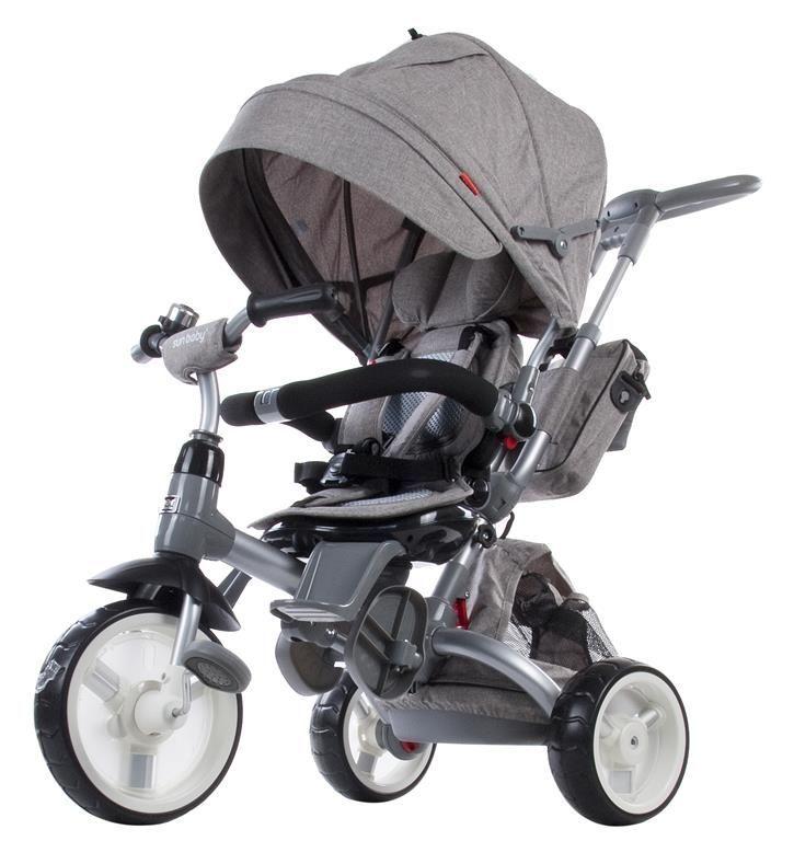 Moderní tříkolka Sun Baby Little tiger T500 žíhaná šedá