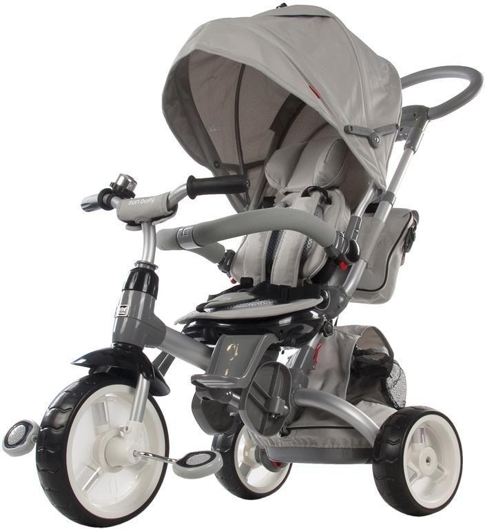 Moderní tříkolka Sun Baby Little tiger T500 šedá