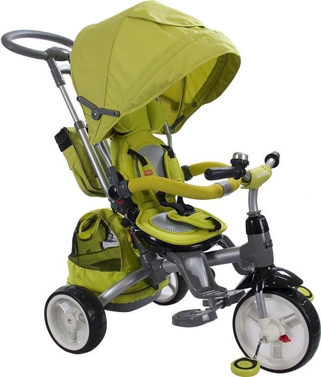 Moderní tříkolka Sun Baby Little tiger T500 zelená